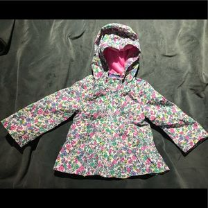 Carters jersey-lined toddler rain coat